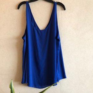 TORRID [NWOT] Sheer Blue Sleeveless Tunic